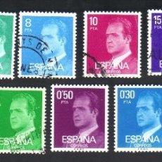 Sellos: 11 SELLOS, DOS SIN USAR, SERIE, EDIFIL 2386 A 2396, AÑO 1977, S.M. D. JUAN CARLOS I. Lote 41624608