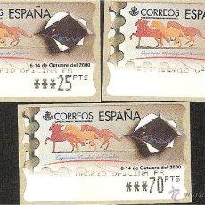 Sellos: ATM ESPAÑA PESETAS SERIE 5 DIG. EXPOS. ESPAÑA 2000 -LIQ.COLECCION-. Lote 41689510