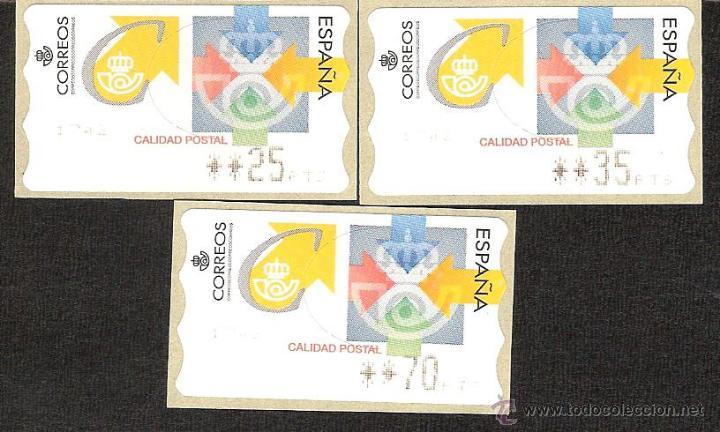 ATM ESPAÑA PESETAS SERIE 4 DIG. CALIDAD POSTAL (Sellos - España - Juan Carlos I - Desde 1.986 a 1.999 - Nuevos)