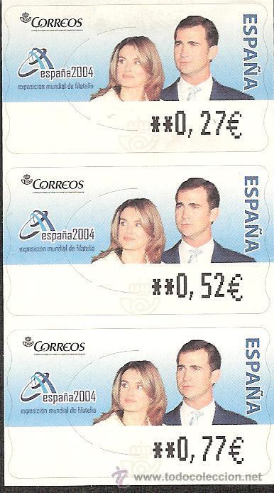 ATM ESPAÑA EUROS SERIE SERVICIO FILATELICO BODA PRINCIPES- SERIE S.F.DIFICIL- (Sellos - España - Juan Carlos I - Desde 2.000 - Nuevos)