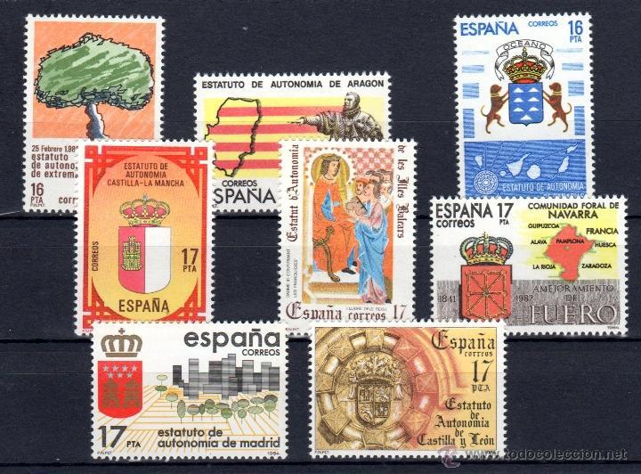 ED Nº 2735/42 SERIE COMPLETA (Sellos - España - Juan Carlos I - Desde 1.975 a 1.985 - Nuevos)