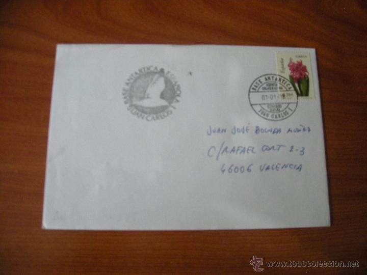 SOBRE CON MATASELLO POLAR BASE ANTARTICA JUAN CARLOS I (Sellos - España - Juan Carlos I - Desde 2.000 - Cartas)