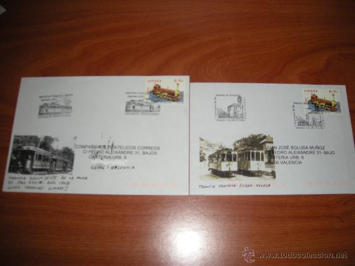 LOTE DE SOBRES CON MATASELLOS CONMEMORATIVO DE TRANVIAS. VER DESCRIPCIÓN (Sellos - España - Juan Carlos I - Desde 2.000 - Cartas)