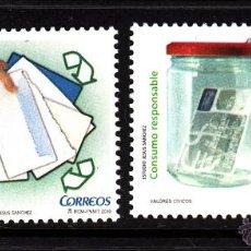 Sellos: ESPAÑA 4541/42** - AÑO 2010 - VALORES CÍVICO. Lote 42096539
