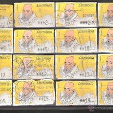 Sellos: ATM PESETAS COLECCION 42 ATMS CIRCULADOS DISTINTOS VALORES Y VARIANTES DE IMPRESION. Lote 42107586