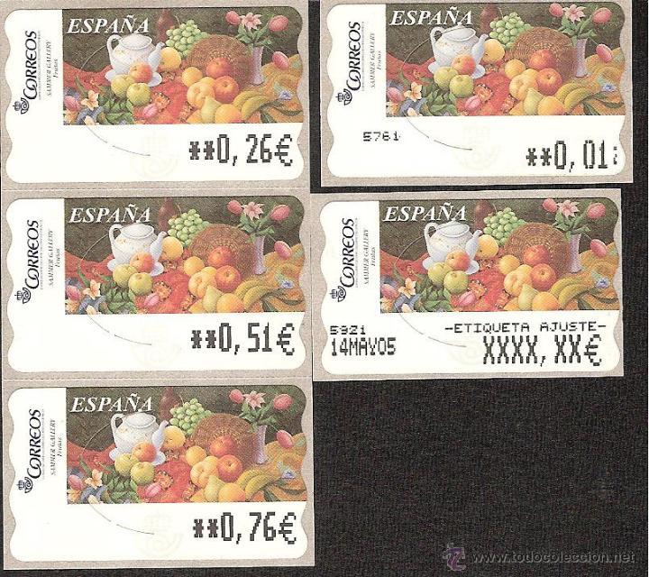 atm espa a euros serie 5 digitos y ajuste de sa comprar sellos rh en todocoleccion net