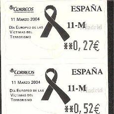 Sellos: ATM ESPAÑA EUROS SERIE SERVICIO FILATELICO DE DIA VICTIMAS TERRORISMO. Lote 42456298