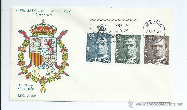 DON JUAN CARLOS I, AÑO 1981, SOBRE PRIMER DIA (Sellos - España - Juan Carlos I - Desde 1.975 a 1.985 - Cartas)