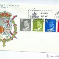 Sellos: DON JUAN CARLOS I, AÑO 1981, SOBRE PRIMER DIA. Lote 42552633