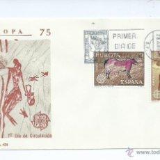 Sellos: EUROPA CEPT, AÑO 1975, SOBRE PRIMER DIA. Lote 42552788