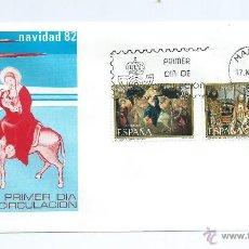 Sellos: NAVIDAD 1982, SOBRE PRIMER DIA. Lote 42553594
