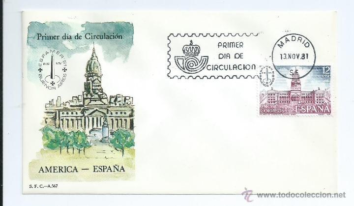 ESPAMER`81, SOBRE PRIMER DIA (Sellos - España - Juan Carlos I - Desde 1.975 a 1.985 - Cartas)