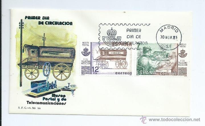 MUSEO POSTAL 1981, SOBRE PRIMER DIA (Sellos - España - Juan Carlos I - Desde 1.975 a 1.985 - Cartas)