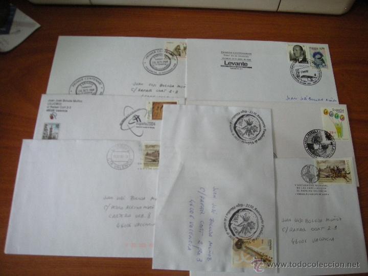 LOTE DE SOBRES CON MATASELLOS CONMEMORATIOVS DE VALENCIA. VER DESCRIPCIÓN (Sellos - España - Juan Carlos I - Desde 2.000 - Cartas)