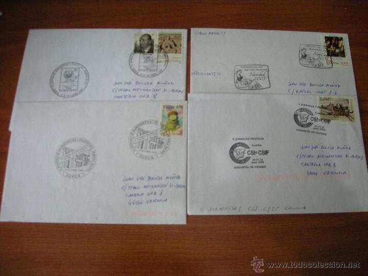 LOTE DE SOBRES CON MATASELLOS CONMEMORATIOVS DE LA PROVINCIA DE VALENCIA. VER DESCRIPCIÓN (Sellos - España - Juan Carlos I - Desde 2.000 - Cartas)