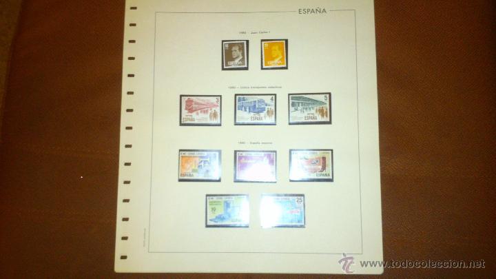 SELLOS DE ESPAÑA DEL AÑO 1980. MONTADOS EN HOJAS EDIFIL CON FILOESTUCHE (Sellos - España - Juan Carlos I - Desde 1.975 a 1.985 - Usados)