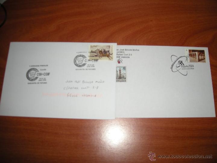 LOTE SOBRES CON MATASELLOS CONMEMORATIVO DE VALENCIA. VER DESCRIPCIÓN (Sellos - España - Juan Carlos I - Desde 2.000 - Cartas)