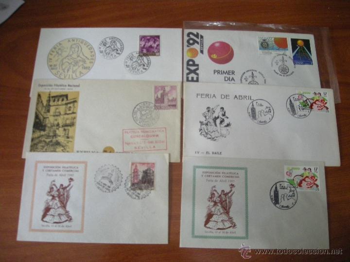 LOTE SOBRES ILUSTRADOS CON MATASELLOS CONMEMORATIVO DE SEVILLA. VER DESCRIPCIÓN (Sellos - España - Juan Carlos I - Desde 2.000 - Cartas)