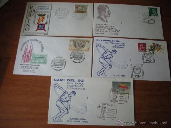 LOTE SOBRES ILUSTRADOS CON MATASELLOS CONMEMORATIVO DE BARCELONA.VER DESCRIPCIÓN (Sellos - España - Juan Carlos I - Desde 2.000 - Cartas)