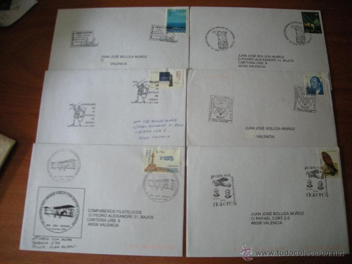 LOTE DE SOBRES CON MATASELLOS CONMEMORATIVOS. VER DESCRIPCIÓN (Sellos - España - Juan Carlos I - Desde 2.000 - Cartas)