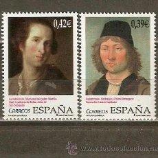 Sellos: ESPAÑA PINTURA ESPAÑOLA NUM. 4357/8 ** SERIE COMPLETA SIN FIJASELLOS. Lote 199579788