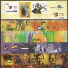 Sellos: ESPAÑA HOJA CARTEL EXPOSICION MUNDIAL DE FILATELIA JUVENIL 2002 NUM. 3943 ** NUEVA SIN FIJASELLOS. Lote 42903162
