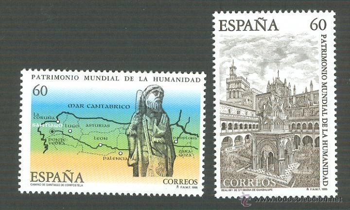 BIENES CULTURALES Y NATURALES PATRIMONIO MUNDIAL DE LA HUMANIDAD EDIFIL 3390-1 (Sellos - España - Juan Carlos I - Desde 1.986 a 1.999 - Nuevos)