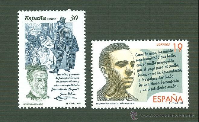 LITERATURA ESPAÑOLA. PERSONAJES DE FICCIÓN. 1995. EDIFIL 3356-7 (Sellos - España - Juan Carlos I - Desde 1.986 a 1.999 - Nuevos)