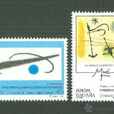 Sellos: EUROPA. OBRAS DE JOAN MIRÓ (1893-1983).1993. EDIFIL 3250-1. Lote 43123601