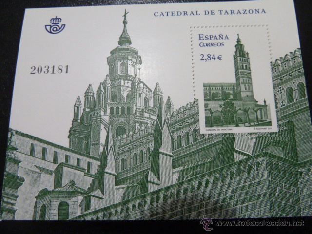 SELLO HOJA BLOQUE NUEVO CATEDRAL DE TARAZONA 2011 (Sellos - España - Juan Carlos I - Desde 2.000 - Nuevos)