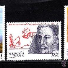 Sellos: ESPAÑA 3505/07** - AÑO 1997 - ANIVERSARIOS - MELILLA - SAN PASCUAL BAYLON - AUSIAS MARCH. Lote 43354784