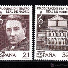Francobolli: ESPAÑA 3514/15** - AÑO 1997 - MUSICA - INAGURACION DEL TEATRO REAL DE MADRID - MIGUEL FLETA. Lote 230944665