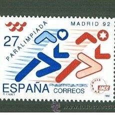 Sellos: PARALIMPIADA MADRID 92. 1992. EDIFIL 3220. Lote 43370055