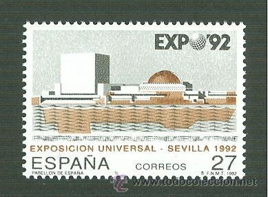 EXPOSICIÓN UNIVERSAL SEVILLA 92. 1992. EDIFIL 3155 (Sellos - España - Juan Carlos I - Desde 1.986 a 1.999 - Nuevos)