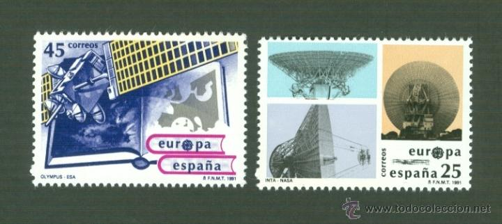 EUROPA. EUROPA ESPACIAL. 1991. EDIFIL 3116-17 (Sellos - España - Juan Carlos I - Desde 1.986 a 1.999 - Nuevos)