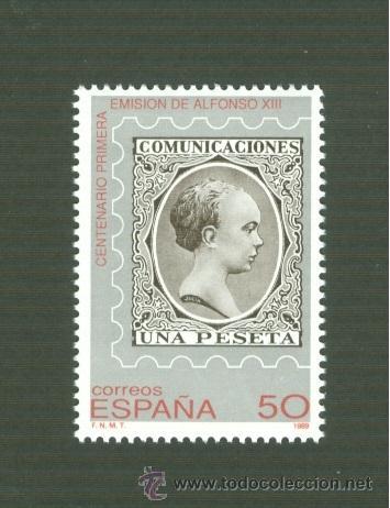 CENTENARIO DE LA PRIMERA EMISIÓN DE ALFONSO XIII, DENOMINADA DEL PELÓN. 1989. EDIFIL 3024 (Sellos - España - Juan Carlos I - Desde 1.986 a 1.999 - Nuevos)