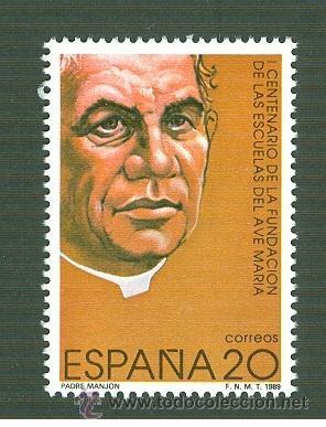 I CENTENARIO DE LA FUNDACIÓN DE LAS ESCUELAS DEL AVE MARÍA. 1989. EDIFIL 3028 (Sellos - España - Juan Carlos I - Desde 1.986 a 1.999 - Nuevos)