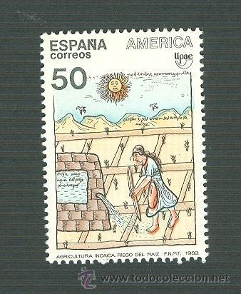 AMÉRICA-UPAE. PUEBLOS PRECOLOMBINOS. USOS Y COSTUMBRES. 1989. EDIFIL 3035 (Sellos - España - Juan Carlos I - Desde 1.986 a 1.999 - Nuevos)