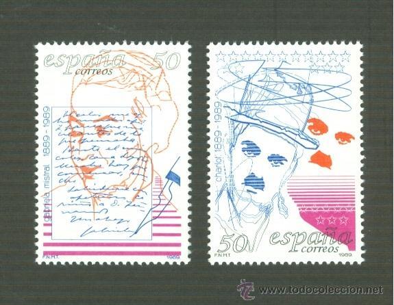 CENTENARIOS. EDIFIL 3013-14 (Sellos - España - Juan Carlos I - Desde 1.986 a 1.999 - Nuevos)