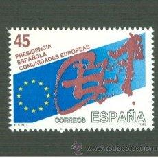 Sellos: PRESIDENCIA ESPAÑOLA DE LAS COMUNIDADES EUROPEAS. 1989. EDIFIL 3010. Lote 155787298