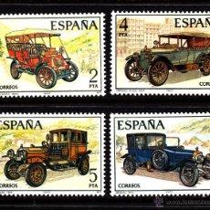 Sellos: ESPAÑA 2409/12** - AÑO 1977 - AUTOMOVILES ANTIGUOS ESPAÑOLES. Lote 270403718