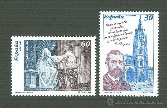 LITERATURA ESPAÑOLA. PERSONAJES DE FICCIÓN. 1996 EDIFIL 3456-7 (Sellos - España - Juan Carlos I - Desde 1.986 a 1.999 - Nuevos)