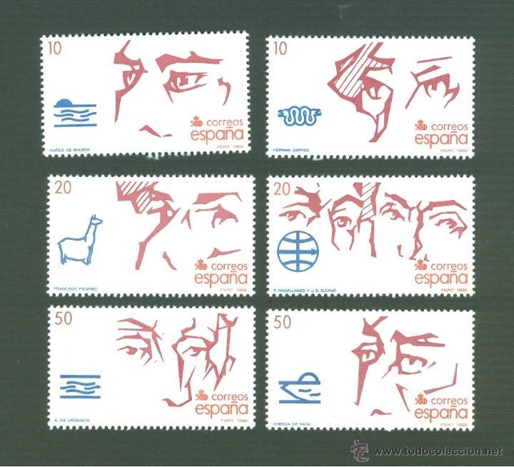V CENTENARIO DEL DESCUBRIMIENTO DE AMÉRICA. 1988. EDIFIL 2969-74 (Sellos - España - Juan Carlos I - Desde 1.986 a 1.999 - Nuevos)