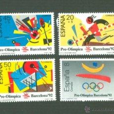 Sellos: BARCELONA 92. I SERIE PREOLÍMPICA. 1988. EDIFIL 2963-66. Lote 46448341