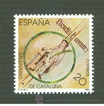 MILENARIO DE CATALUÑA. 1988. EDIFIL 2960 (Sellos - España - Juan Carlos I - Desde 1.986 a 1.999 - Nuevos)