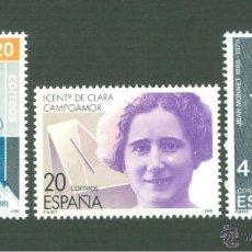 Sellos: CENTENARIO DE PERSONALIDADES. 1988. EDIFIL 2929-31. Lote 165057608