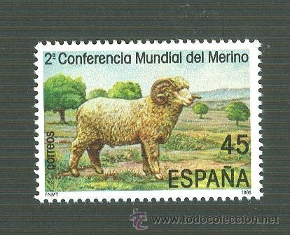 II CONFERENCIA MUNDIAL DEL MERINO. 1986. EDIFIL 2839 (Sellos - España - Juan Carlos I - Desde 1.986 a 1.999 - Nuevos)