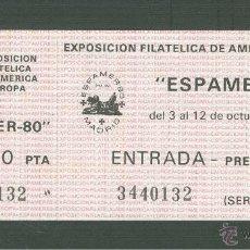 Sellos: ENTRADA ESPAMER 80. 1980. EDIFIL 2583(ENTRADA AL RECINTO). Lote 43683644