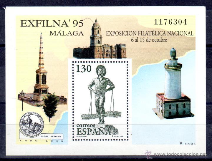 EXFILNA´95 H.B.** (Sellos - España - Juan Carlos I - Desde 1.986 a 1.999 - Nuevos)