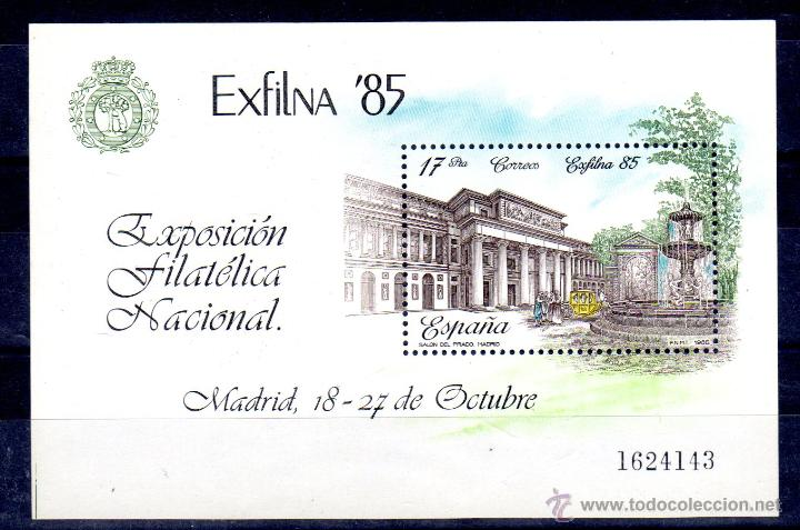 EXFILNA´85 H.B.** (Sellos - España - Juan Carlos I - Desde 1.986 a 1.999 - Nuevos)